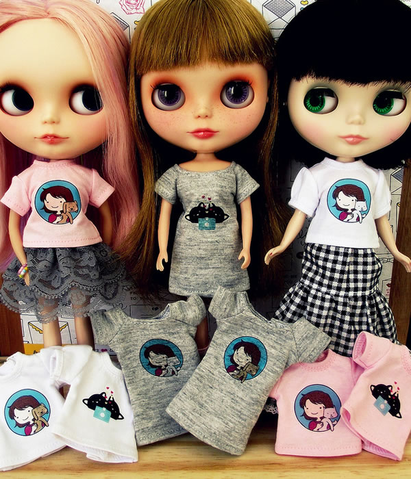 Camisetas Amamos Blythes & Animais