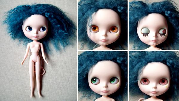 Blythe Custom com Mohair para Adoção