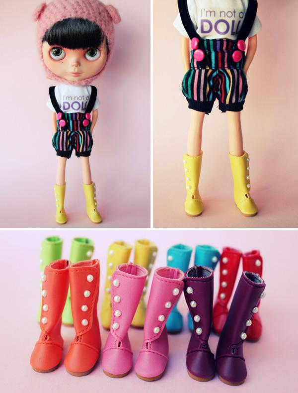 Botas Coloridas Pérolas