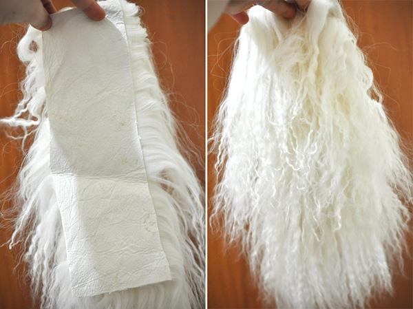 Corte de mohair skin