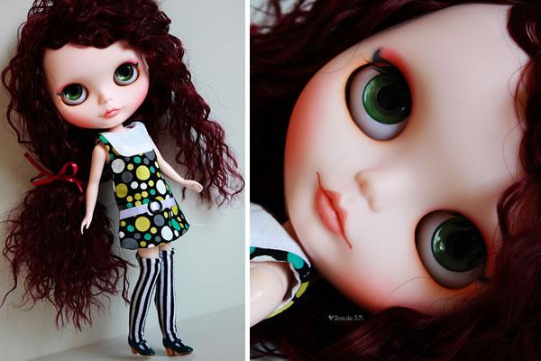 Disco Girl - Blythe Custom para Adoção